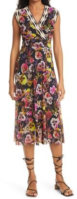Fuzzi Floral Midi Dress