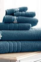 Amrapur Fleur/Swirl Embroidered 6-Piece Towel Set - Denim-Ivory