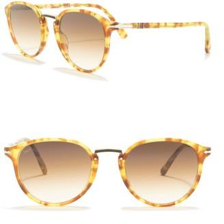 Persol Typewriter Evolution 51mm Round Sunglasses