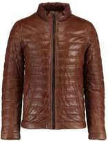 Oakwood FOOTLOOSE Leather jacket cognac