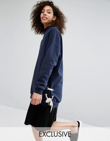 Monki Tie Side Longline Sweater