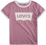 Levi's Levis Girls 7-16 Retro Batwing Logo Ringer Tee