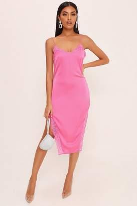 I SAW IT FIRST Fuchsia Lace Strappy Midi Dress