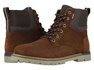 Toms Ashland Waterproof Boot (Waterproof Brown Waxy Suede/Rugged Canvas) Men's Lace-up Boots
