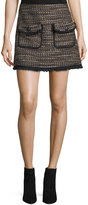 Veronica Beard Margot Short Metallic Tweed Skirt