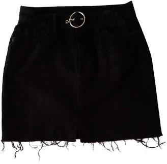 AllSaints Black Denim - Jeans Skirt for Women