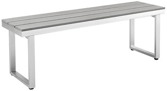 Hewson Modern Outdoor Patio Aluminum Bench