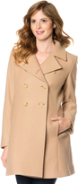 A Pea in the Pod Button Front Maternity Coat