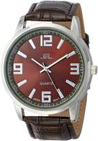 U.S. Polo Assn. Men's Dial Crocodile Strap Watch US5166