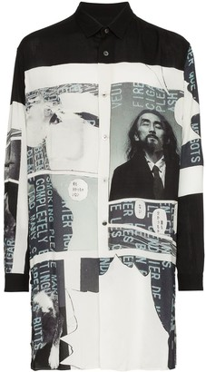 Yohji Yamamoto Longline Yohji Printed Shirt