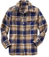 Gap Convertible plaid flannel shirt