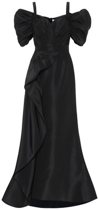 Alexander McQueen Silk-satin gown