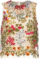 RED Valentino embroidered sleeveless top
