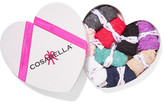 Cosabella Box Of Love Set Of Nine Stretch-lace Briefs - Navy