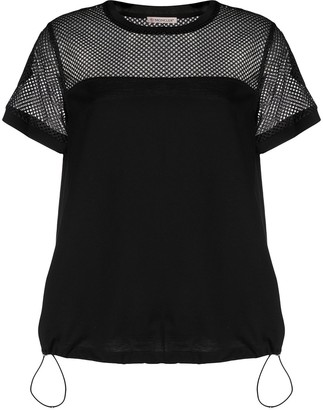 Moncler mesh panelled knit T-shirt