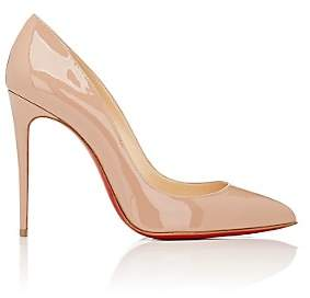 Christian Louboutin Women's Pigalle Follies Patent Leather Pumps-Nude
