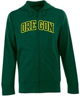 Antigua Men's Oregon Ducks Signature Zip Front Fleece Hoodie