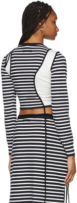 Jean Paul Gaultier SSENSE Exclusive White & Navy Ottolinger Edition Les Marins Patchwork Long Sleeve T-Shirt
