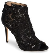 Badgley Mischka Women's Moyra Embellished Lace Bootie