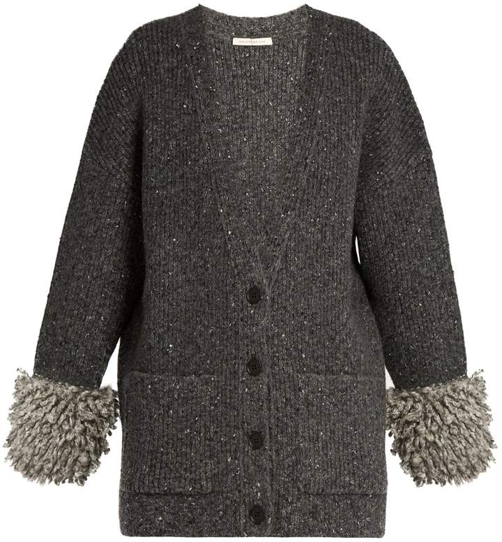 Christopher Kane Looped-knit cuff ribbed-knit cardigan