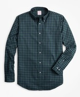 Brooks Brothers Madison Fit Brushed Gingham Sport Shirt