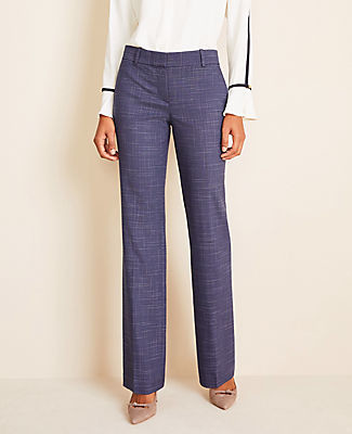 Ann Taylor The Petite Trouser Pant in Crosshatch