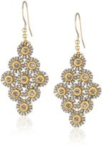Miguel Ases Soft Pewter Small Diamond Shaped Earrings