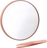 Tweezerman Rose Gold 10X Magnifying Mirror & Mini Slant Tweezer