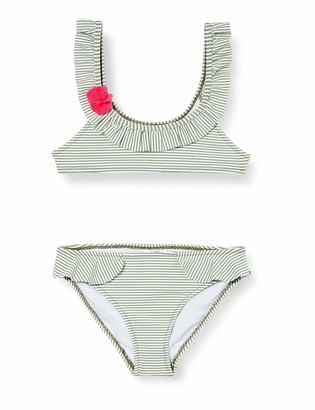 Tuc Tuc Green Striped Bikini for Girl Samba Dreams