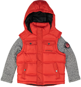 Weatherproof Red Pocket Layered Hooded Puffer Coat - Boys