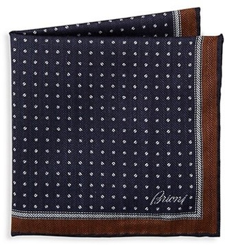 Brioni Fantasy Micro-Print Pocket Square