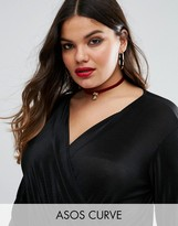 Asos Holidays Velvet Choker with Bauble