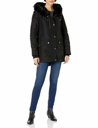 BCBGeneration BCBG Women's Faux Fur Lined Parka
