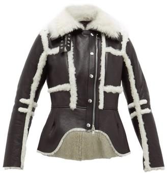 Alexander McQueen Waterfall Shearling Jacket - Womens - Black
