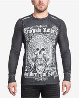 Affliction Men's Long-Sleeve Graphic-Print Cotton T-Shirt