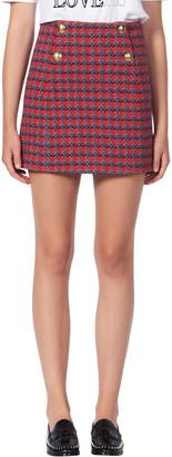 Sandro Efira Tweed Wool & Cotton Blend Miniskirt