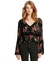 Denim & Supply Ralph Lauren Floral-Print Bell-Sleeve Top