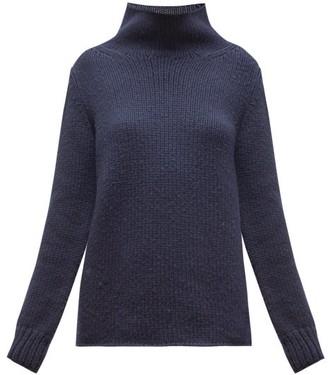Gabriela Hearst Velimir High-neck Cashmere Sweater - Womens - Navy
