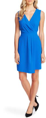 Vince Camuto Parisian Crepe Pleat Front Sleeveless Cocktail Dress