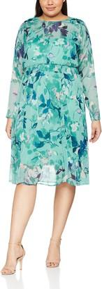 Junarose Women's Plus Size Emilija Long Sleeve Midi Dress