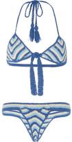 Akoia Swim Iris Crocheted Cotton Bikini Set