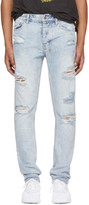 Ksubi Blue Travis Scott Edition Ripped Chitch Jeans