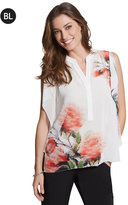 Chico's Black Label Printed Floral Poncho