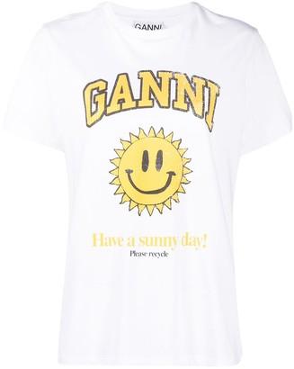 """Ganni """"Have A Sunny Day"""" T-shirt"""