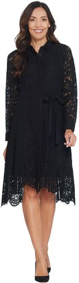 Isaac Mizrahi Live! Special Edition Lace Dress with Grosgrain Belt