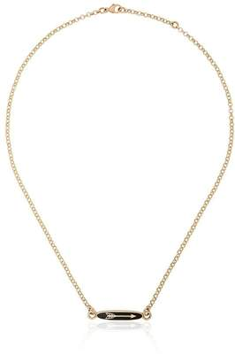 Foundrae navy blue and yellow gold dream adjustable sequence necklace