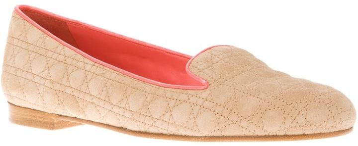 Christian Dior emblem slipper loafer