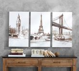 Pottery Barn Vintage City Sketches - Set of 3