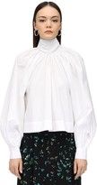 Ganni COTTON POPLIN BLOUSE W/ BOW