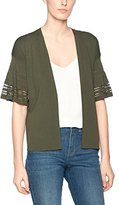 Warehouse Women's Pointelle Fluted Cuff Cardigan,8